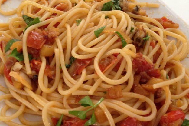 Spaghetti con le mele verdi