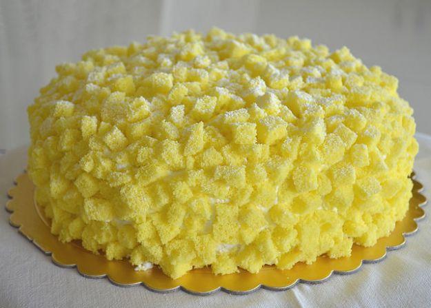 Torta mimosa vassoio