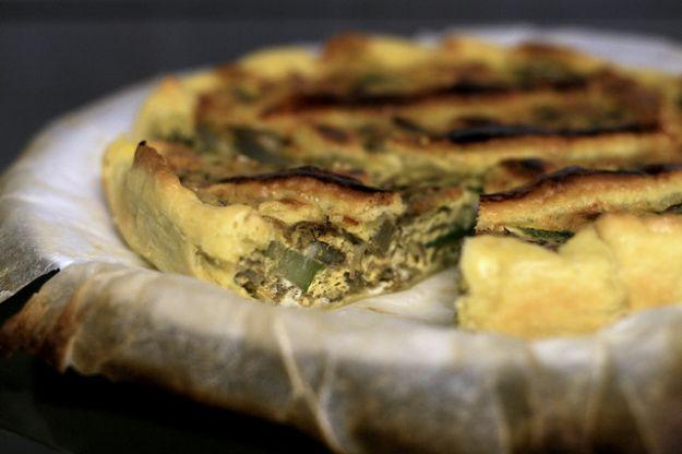 Torta salata con zucchine e prosciutto