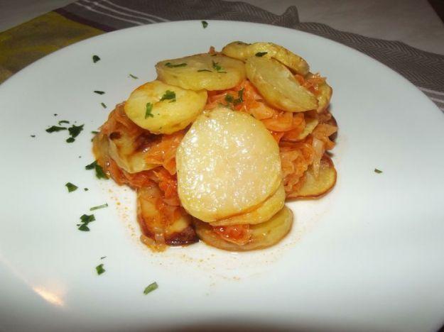 Verze e patate in padella