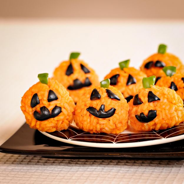 Zucche di riso per Halloween