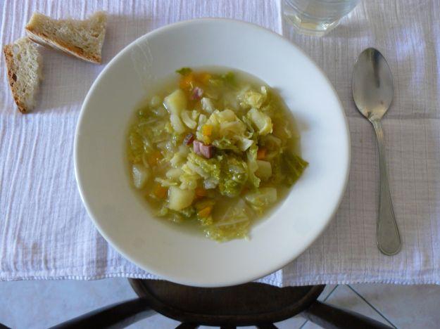 Zuppa verza e patate