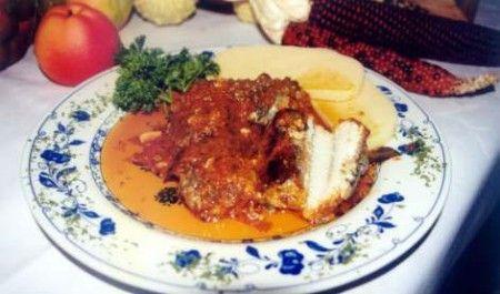 anguilla salsa polenta