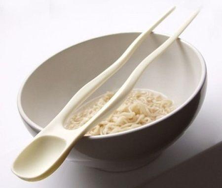 bacchette cinesi cucchiaio