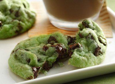 Biscotti alla menta e cioccolato
