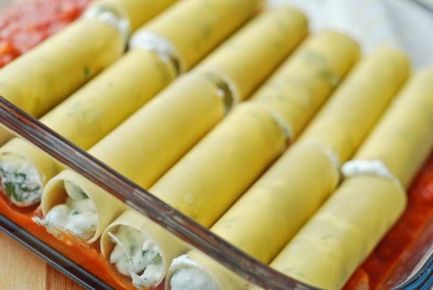Cannelloni con ricotta, speck e asparagi