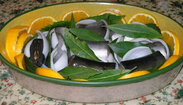 Capitone (o anguilla) in agrodolce