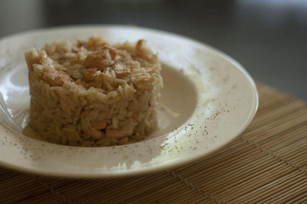 cestini di risotto con salmone fresco