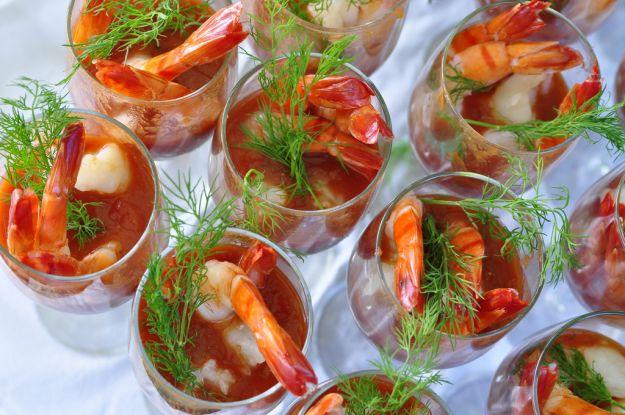 cocktail di scampi e mazzancolle
