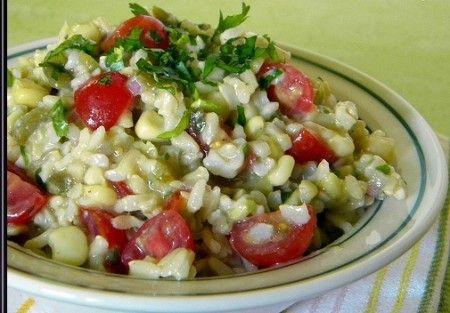 Condire l'insalata di riso