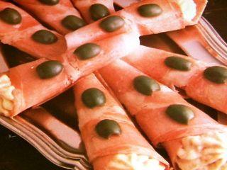 Cornetti di prosciutto in gelatina