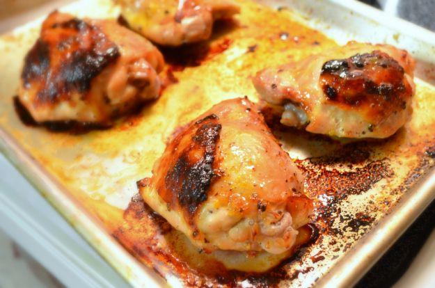 Cosce di pollo con aglio