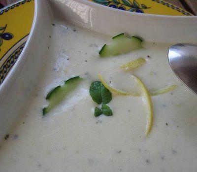 Crema di cetrioli e formaggio
