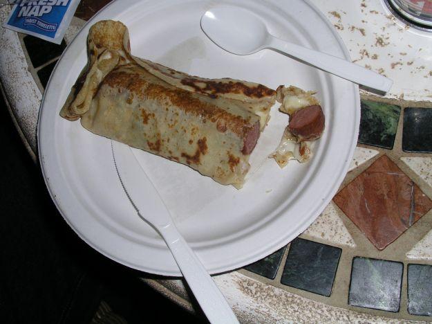 Crepes hot-dog
