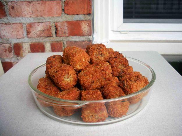 Crocchette di pollo con mortadella e funghi