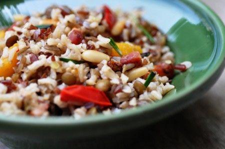 Cuocere il riso per l'insalata
