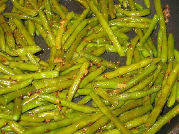 Fagiolini con semi di cumino e finocchio