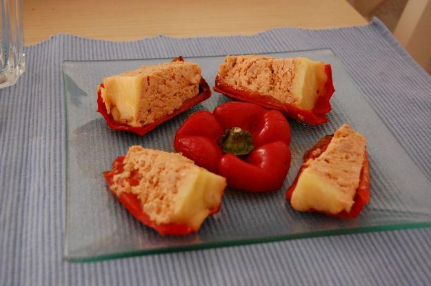 filetti di peperone al forno con tonno