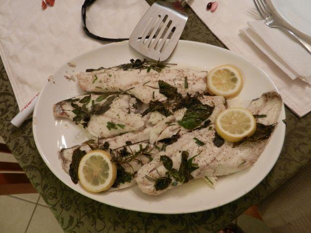 filetti di pesce bianco al cartoccio