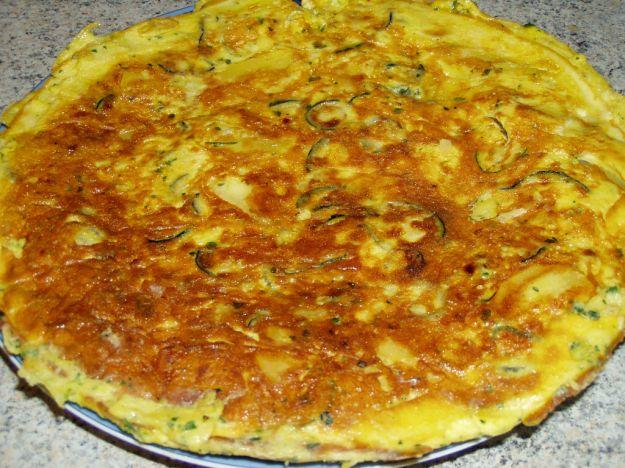 frittata con patate zucchine e noci