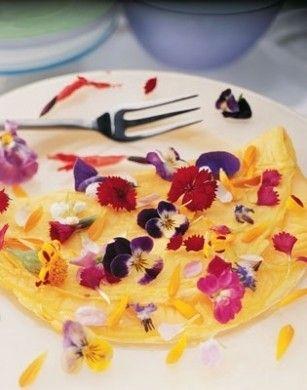 frittata dolce ai fiori