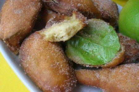 frittelle con le foglie limone