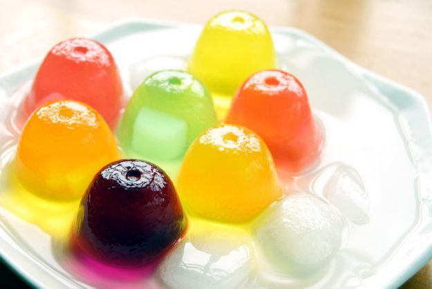 gelatie al the e frutta