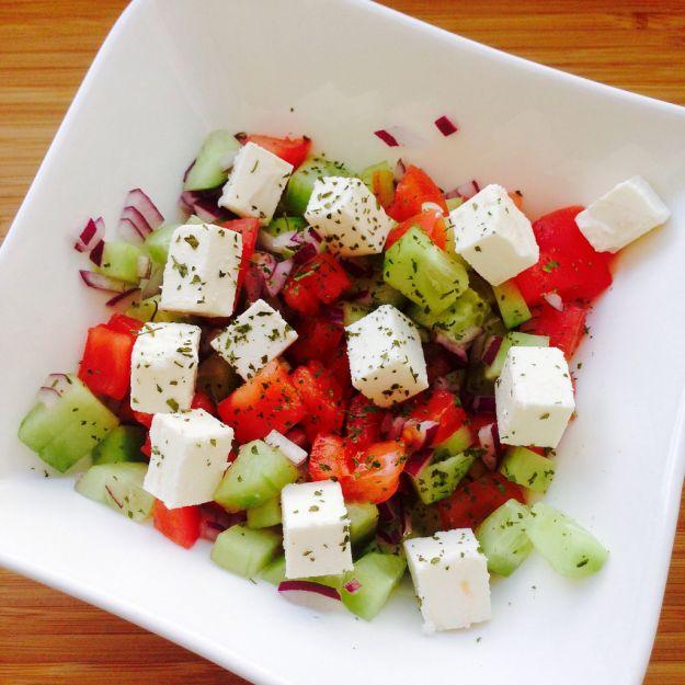 insalata di pomodori e feta