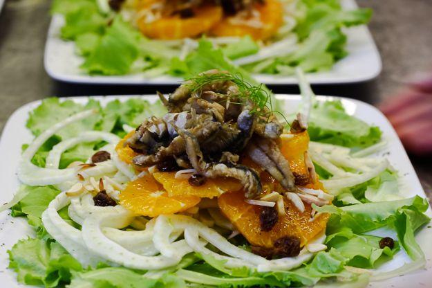 insalata uvetta finocchi