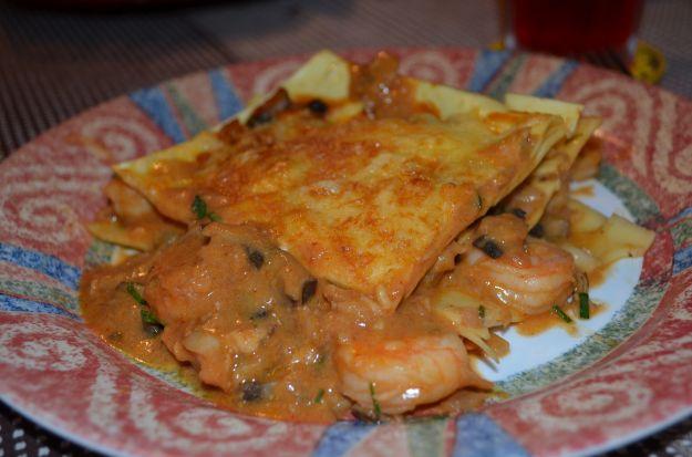 lasagna con ragù di pesce