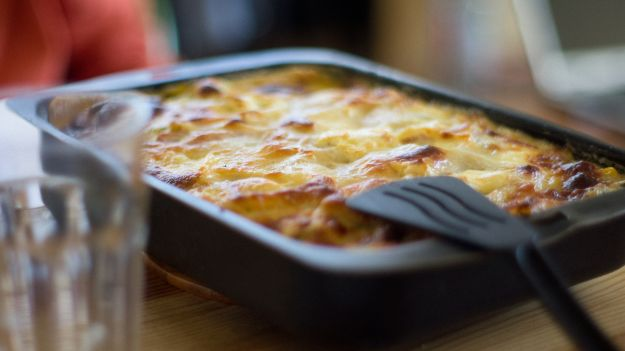 Goat cheese & zucchini lasagna