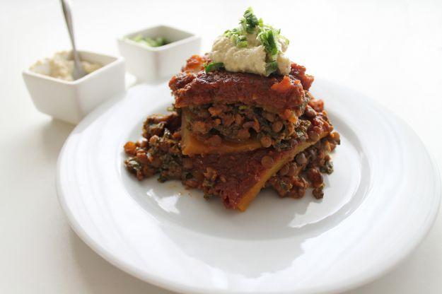 lasagne aperte con lenticchie con il Bimby