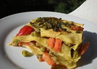 lasagne pesce e verdure