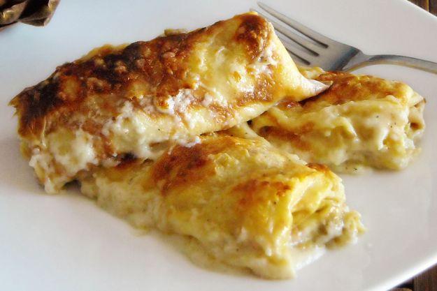 Lasagne con formaggio e noci senza besciamella
