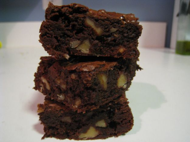 mini brownies con noci