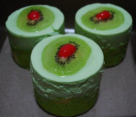 mousse verde al kiwi