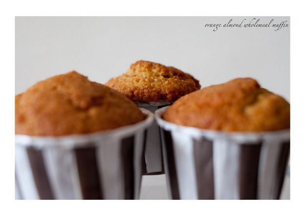 muffin arancia mandorle