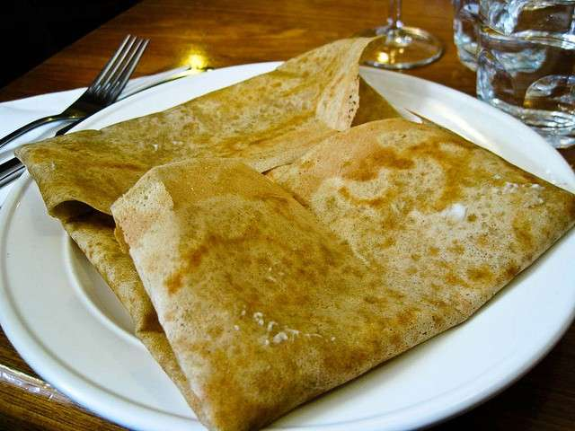 Crepes salate ripiegate