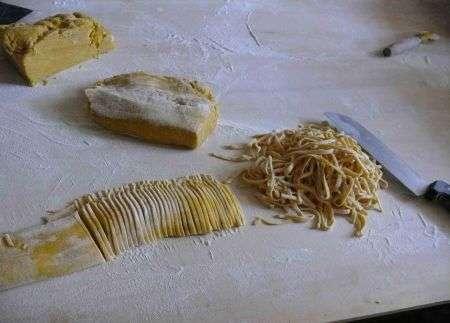 pasta fresca per il pranzo di natale