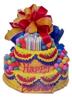 torta compleanno colorata
