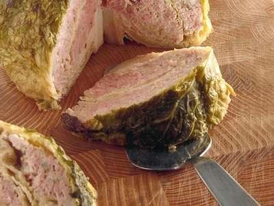 verza al forno ripiena con carne e riso