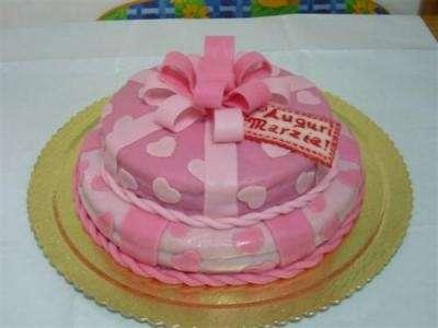 torta decorata con il marzapane