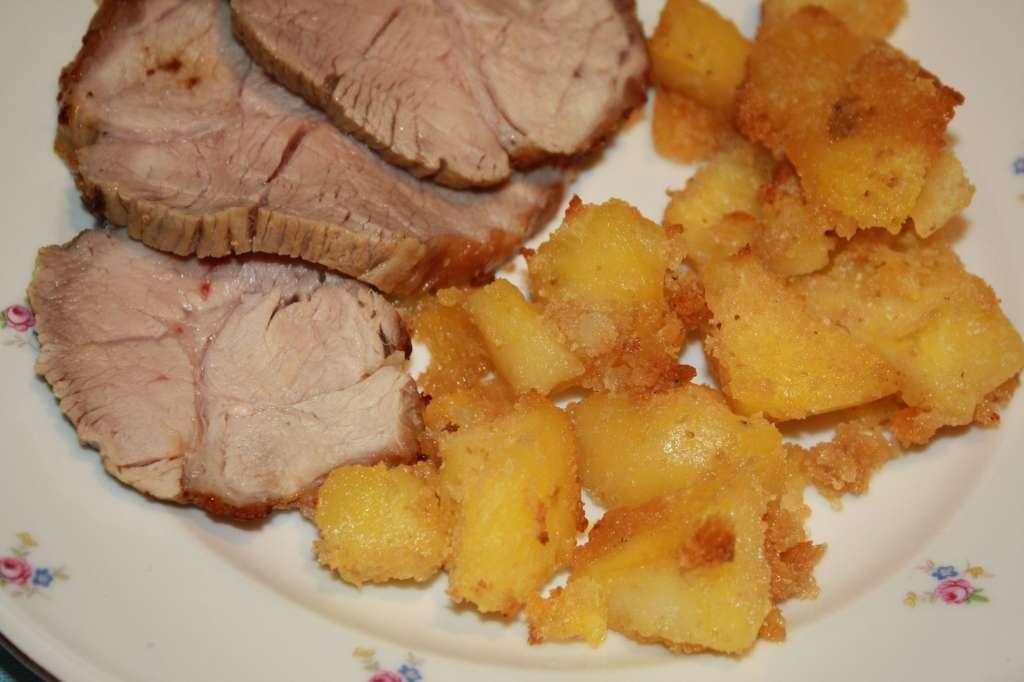 Arrosto di vitello con patate sabbiose