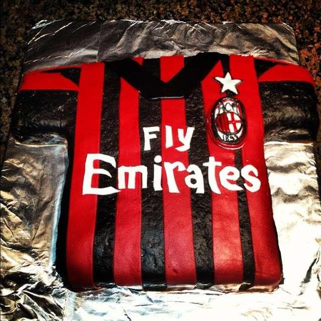 Decorazioni torte del Milan