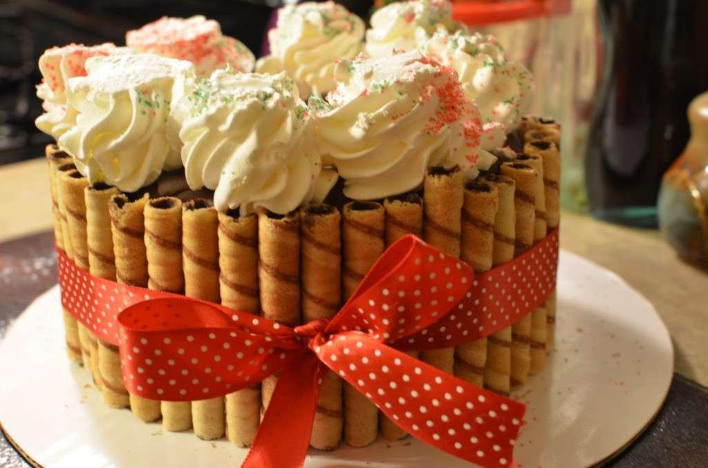 Decorazione torta gelato
