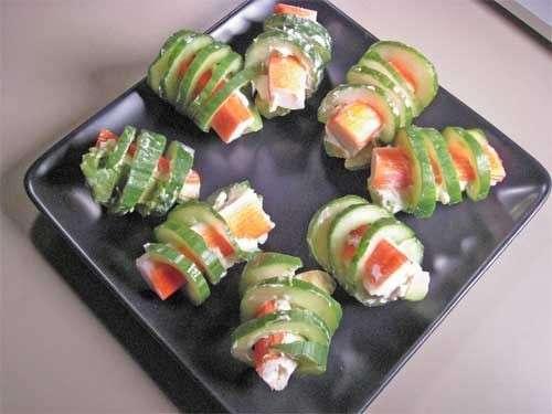 Antipasto di pesce con zucchina