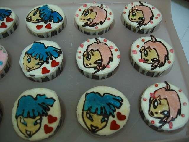 Cupcakes con decorazioni di gelatina