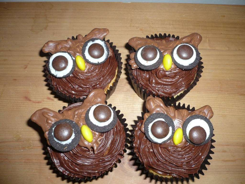 Cupcakes a forma di gufo