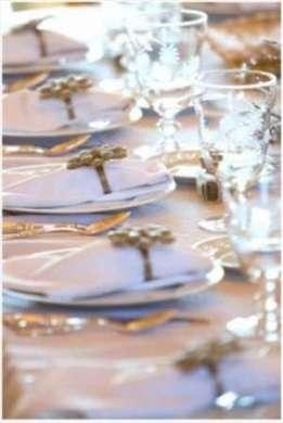 Decorazioni per la tavola di Natale, total white