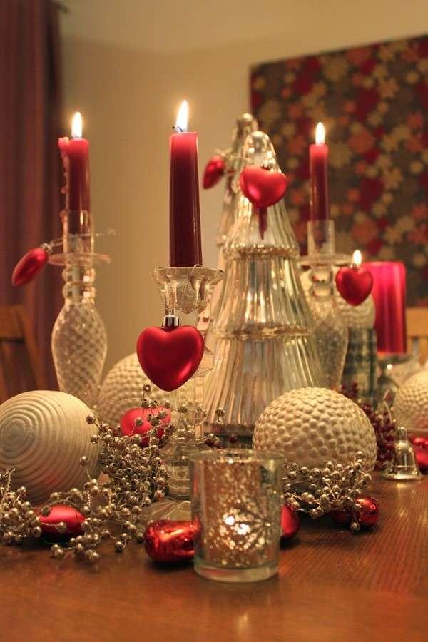 Candele romantiche come decorazioni